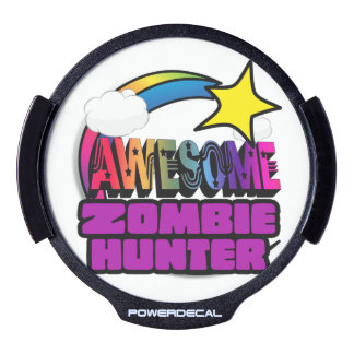 Shooting Star Rainbow Awesome Zombie Hunter LED Car Decal