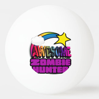 Shooting Star Rainbow Awesome Zombie Hunter Ping-Pong Ball