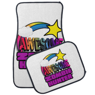 Shooting Star Rainbow Awesome Zombie Hunter Floor Mat