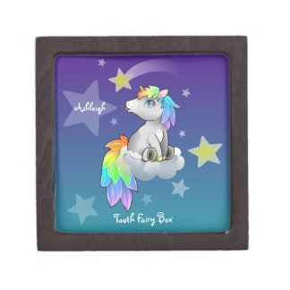 Shooting Star Rainbow Unicorn Cute Tooth Fairy Box