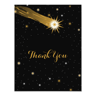 "Shooting Star Romantic Thank You Card 4.25"" X 5.5"" Invitation Card"