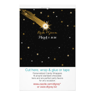Shooting Star Romantic Wedding Candy Wrappers Flyer