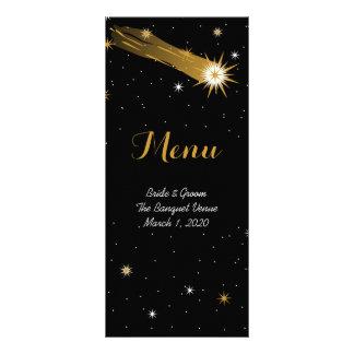 Shooting Star Romantic Wedding Menu Rack Card