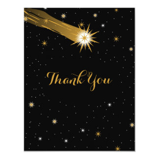 "Shooting Star Romantic Wedding Thank You Card 4.25"" X 5.5"" Invitation Card"