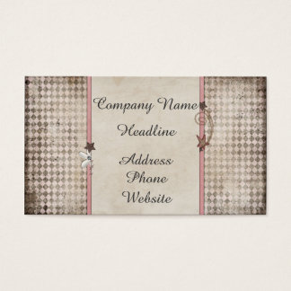 Shooting star shabby chic business card