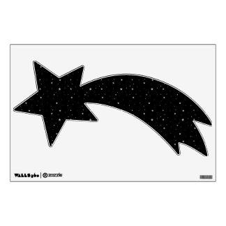 Shooting Star Silver Starry Night Sky Wall Skin