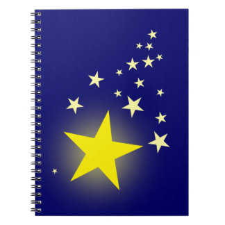 Shooting Star Spiral Notebook