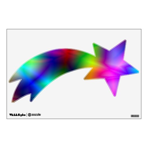 shooting star wall decal zazzle