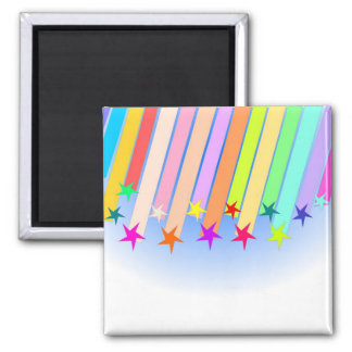 shooting stars 2 inch square magnet