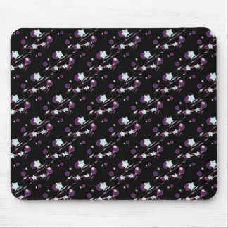 Shooting Stars and Comets Black Mouse Pad