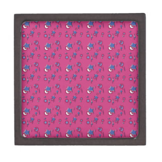 Shooting Stars and Comets Hot Pink Small Gift Box