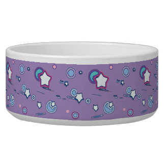 Shooting Stars and Comets Pastel Purple Pet Bowl