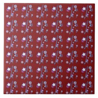 Red Star Ceramic Tiles Zazzle