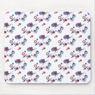 Shooting Stars and Comets Red White Blue Mouse Pad