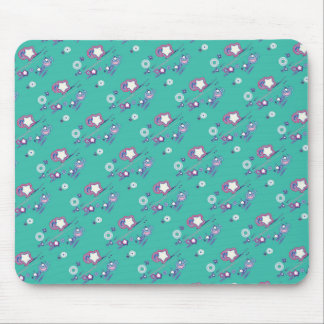 Shooting Stars and Comets Turquoise Mouse Pad