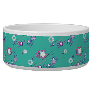 Shooting Stars and Comets Turquoise Pet Bowl