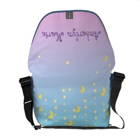 Shooting Stars and Moon Ombre Diaper Bag