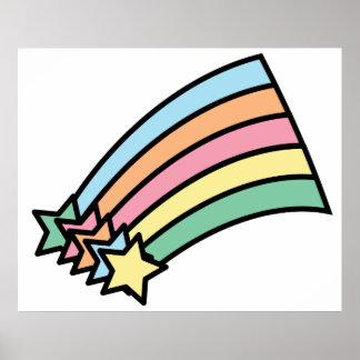 Shooting Stars and Rainbow Print