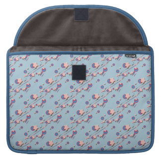 Shooting Stars & Comets Light Blue Laptop Sleeve Sleeves For MacBook Pro