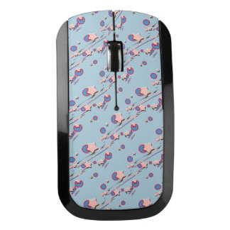 Shooting Stars & Comets Light Blue Wireless Mouse