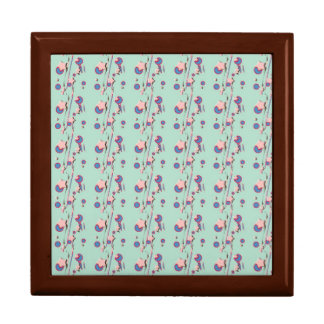 Shooting Stars Comets Pastel Green Square Box