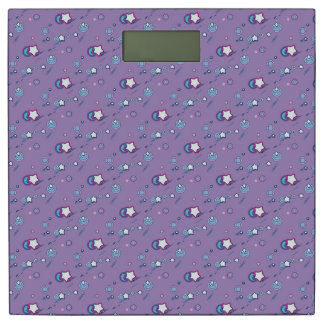 Shooting Stars Comets Pastel Purple Weight Scale