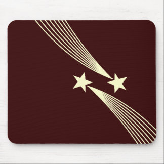 Shooting Stars - Cream on Dark Brown 330000 Mouse Pad