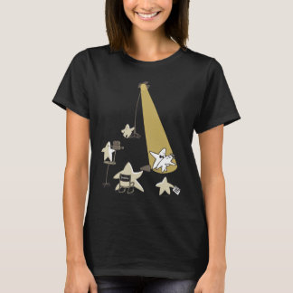 Shooting Stars Funny Word Pun Cartoon Graphic T-Shirt