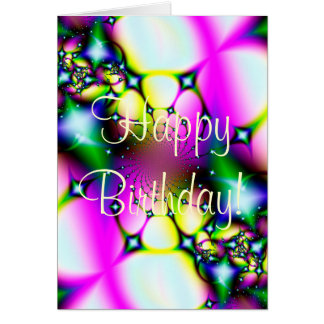 Shooting Stars Happy Birthday! Greeting Cards