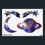 """Shooting stars, moon and planets wall decal<br><div class=""""desc"""">Shooting stars,  moon and planets wall stickers.</div>"""