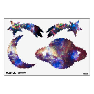 Shooting stars, moon and planets wall sticker