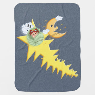 Shooting Stars Moon Ride Seashell Carriage Baby Blanket