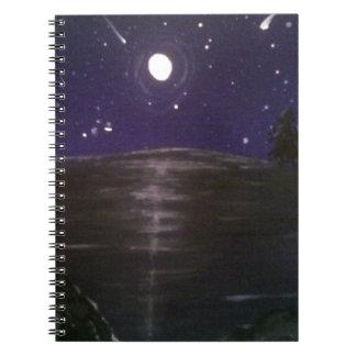 Shooting stars spiral notebooks