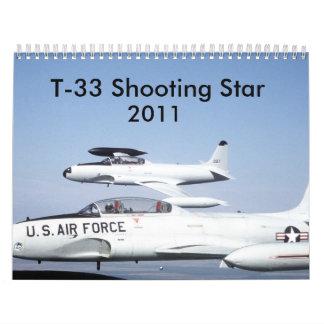 Shooting Stars T-33 Calendario