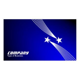 Shooting Stars v2 - Blanco en el azul de Spotlit Tarjetas De Visita