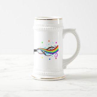 Shooting Stars y arco iris de la arma de mano Taza De Café
