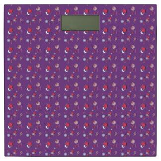 Shooting Stars y escala púrpura del peso de los Báscula