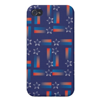 Shooting Stars y rayas iPhone 4 Protector