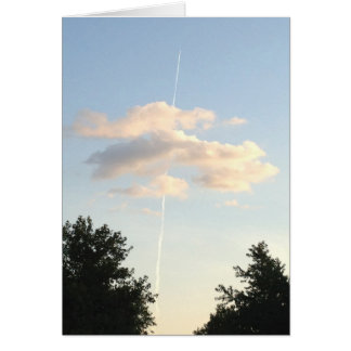 Shooting straight up in the sky greeting card