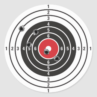 Shooting Target Classic Round Sticker