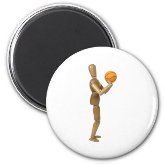 ShootingBasketball112709 copy 2 Inch Round Magnet