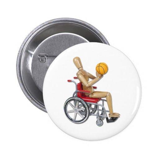 ShootingBasketballWheelchair Pinback Button
