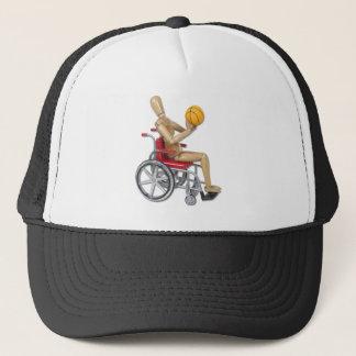 ShootingBasketballWheelchair Trucker Hat