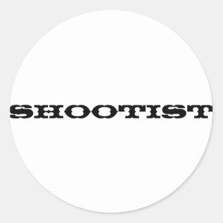 Shootist Classic Round Sticker