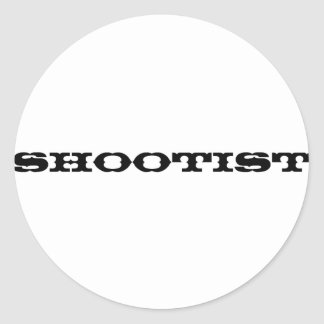 Shootist Pegatina Redonda