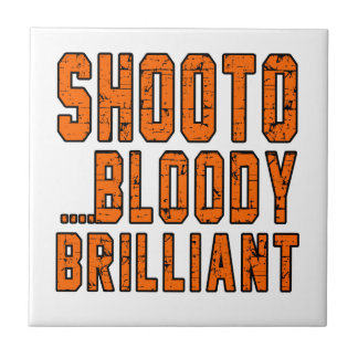Shooto Bloody brilliant Small Square Tile