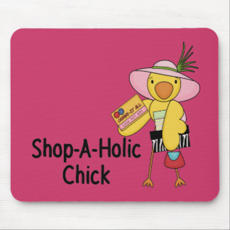Shop-A-Holic Chick Mouse Pad