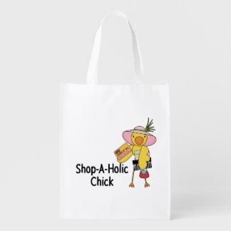 Shop-A-Holic Chick Reusable Grocery Bag