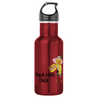 Shop-A-Holic Chick Water Bottle