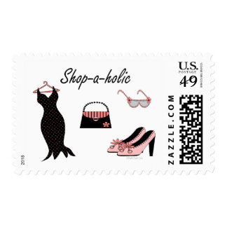 Shop-a-holic Postage Stamp
